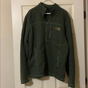 North face jacket green large